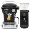 ASCASO Dream PID Espresso Coffee Machine and I-Mini Grinder Matte Dark Black Combo - With Free Extras