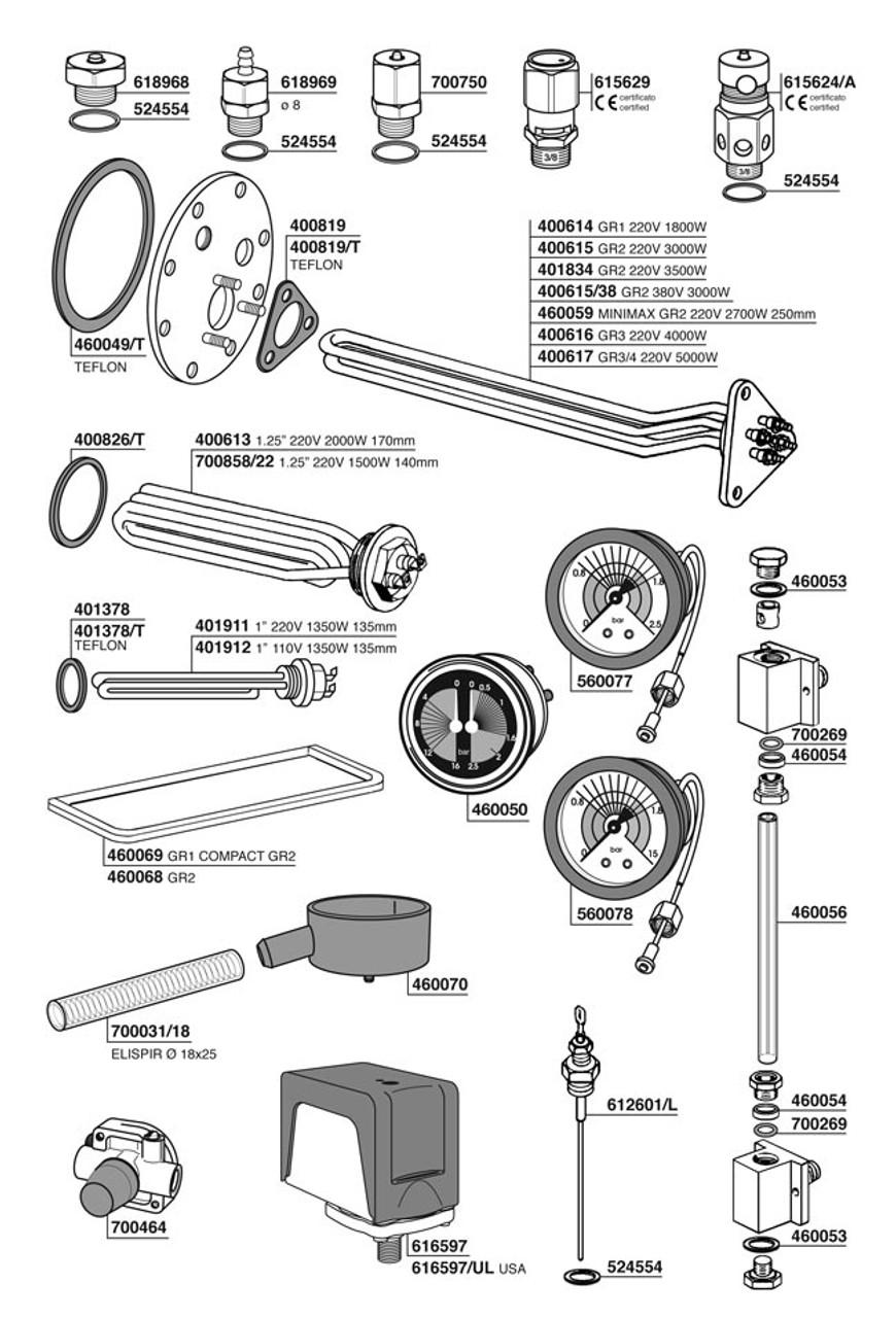 Espresso Coffee Maker Parts ~ Parts espresso coffee machine vibiemme vbm