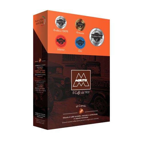 Mokito 100% Arabica Nespresso Compatible Capsules 10 Carton