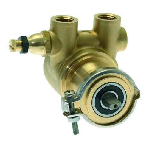 Rotary Vane Pump Fluid-O-Tech 200 l/h 3/8 BSP NPT clamp fitting Flat-shaft