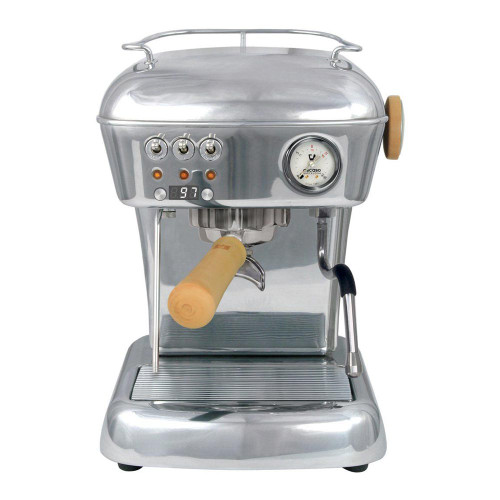 ASCASO Dream PID Espresso Coffee Machine Polished Aluminium