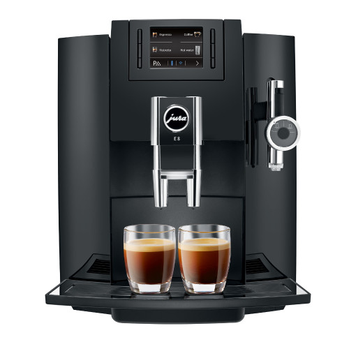 JURA E8 Piano Black Automatic Espresso Coffee Machine