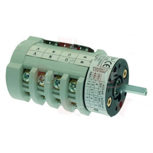 Rotary Switch 0-2 Position 20A 600V 5x5mm Square Pin