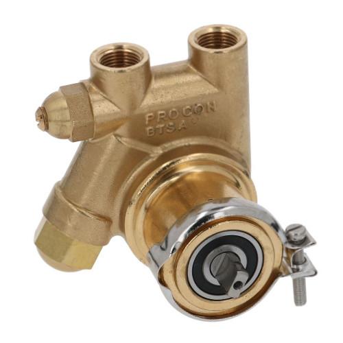 Rotary Vane Pump PROCON 200 l/h 3/8 BSP NPT clamp fitting Flat-shaft