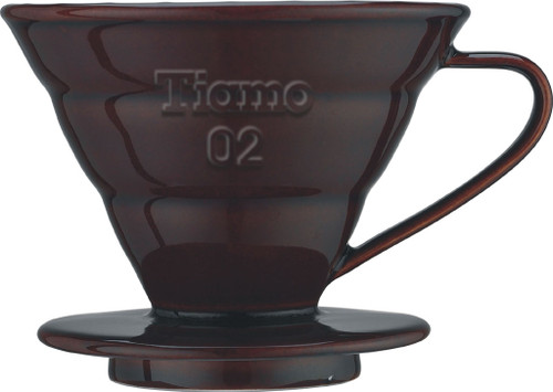 Tiamo Ceramic Coffee Filter Holder Brown