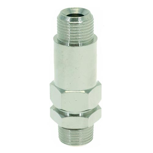 "Non-Return Valve 3/8""M-3/8""M Nickel plated L032P"
