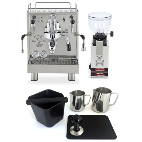 BEZZERA MAGICA e61 Espresso Coffee Machine and LELIT Doser-less Grinder Package - SPECIAL