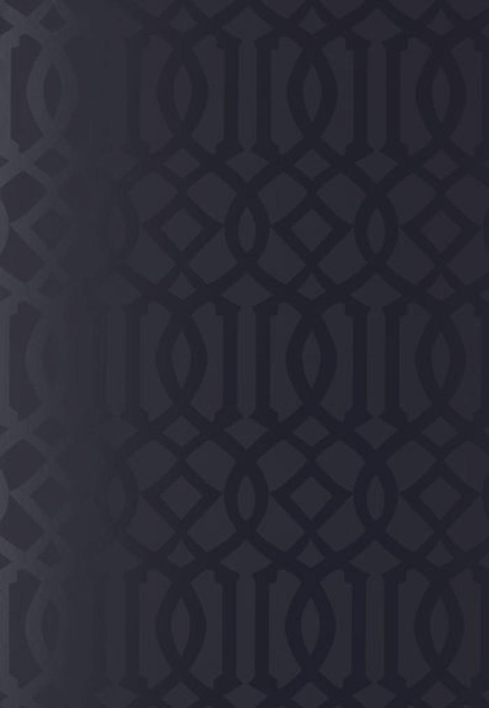 Schumacher Imperial Trellis Onyx Gloss Wallpaper 2707215
