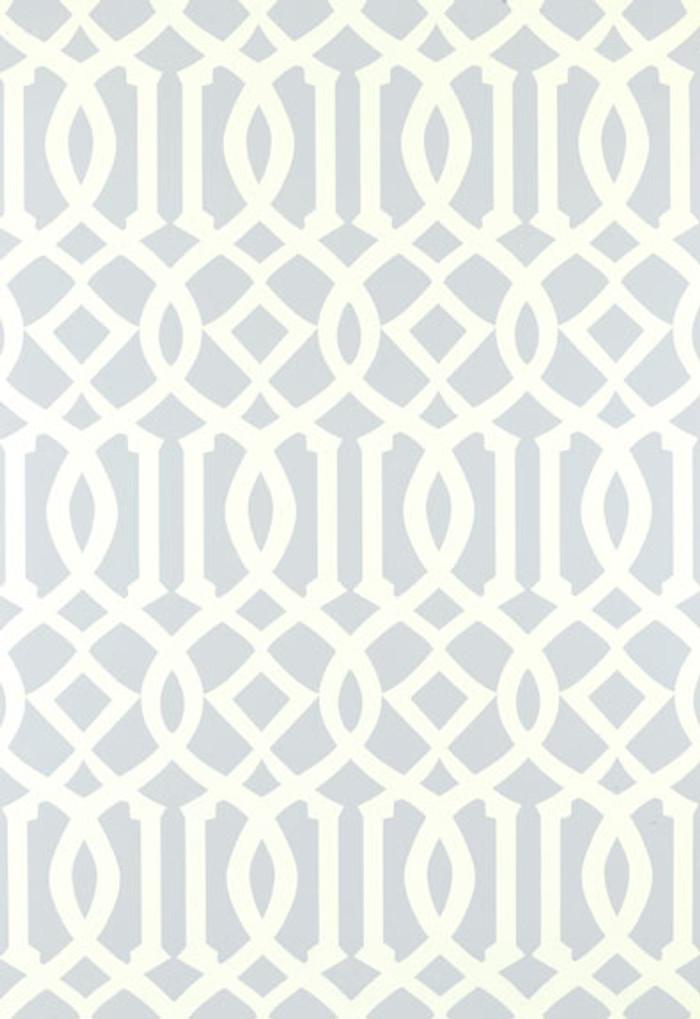 Schumacher Imperial Trellis Soft Aqua Wallpaper 5003363