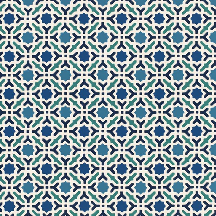 Schumacher Serallo Mosaic Wallpaper Aegean 5005970