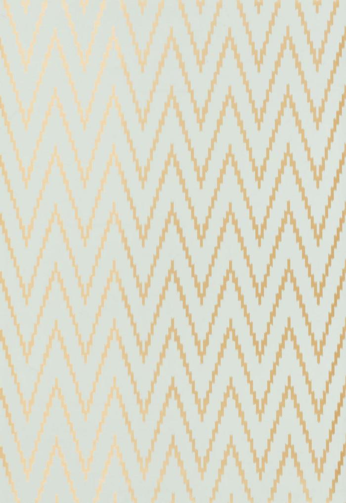 Schumacher Kasari Ikat Wallpaper Aquamarine 5005991