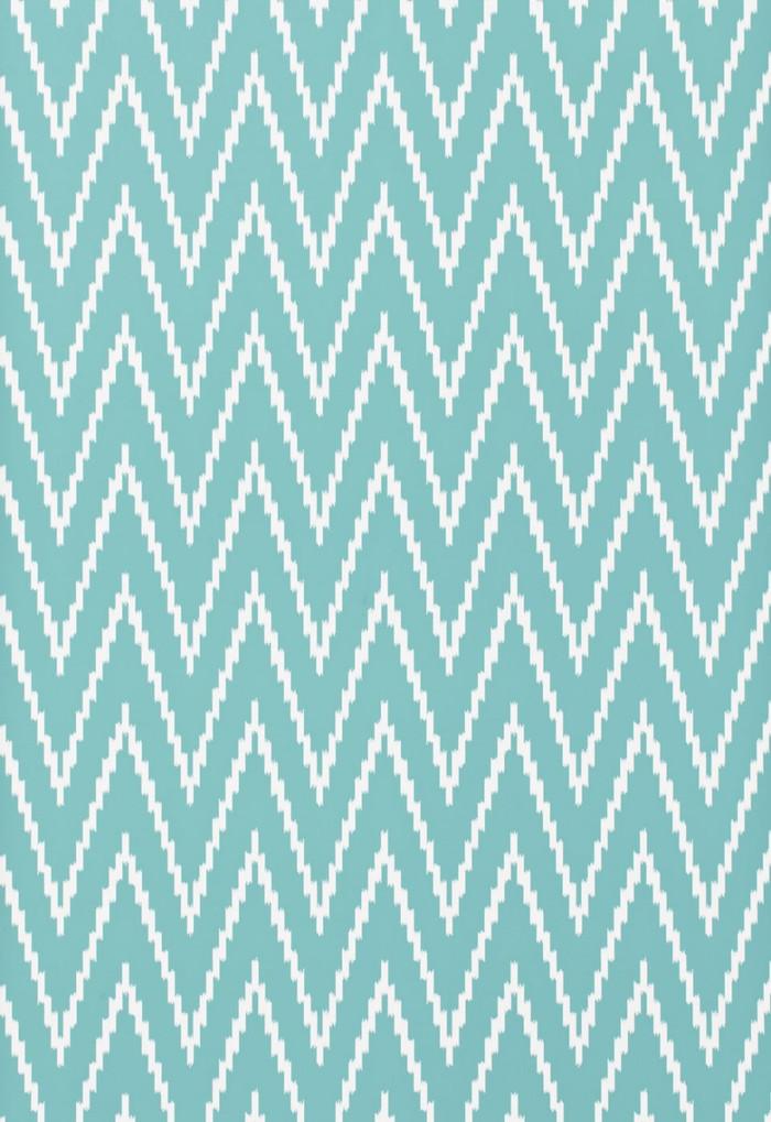 Schumacher Kasari Ikat Wallpaper Azure 5005995