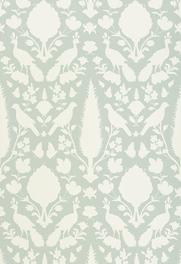 Schumacher Chenonceau Wallpaper Aquamarine 5004122
