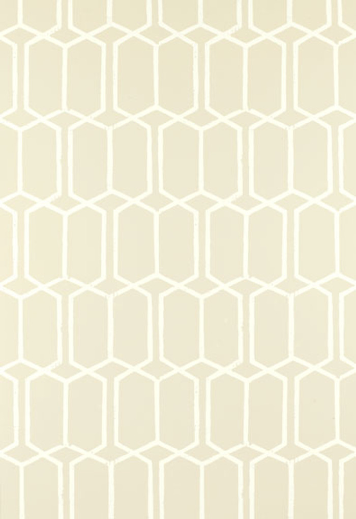 Schumacher Modern Trellis Wallpaper Alabaster 5003283 (Priced by the Single Roll, Sold by the Triple Roll - Must order in increments of 3 rolls)