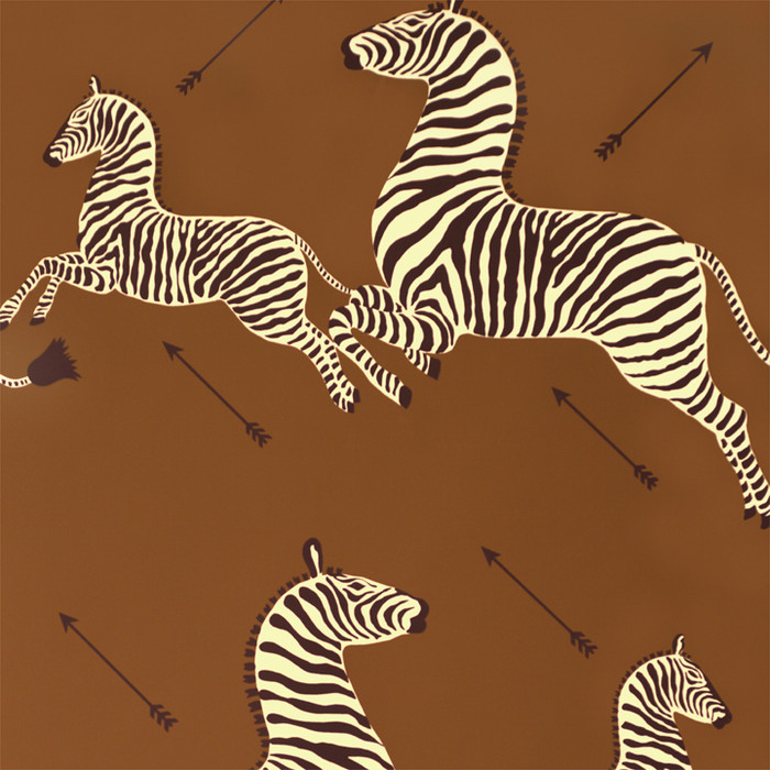 Scalamandre Zebras Wallpaper Safari Brown - 2 Roll Minimum Order