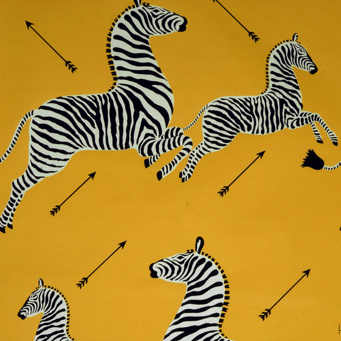 Scalamandre Zebras Wallpaper Yellow - 2 Roll Minimum Order