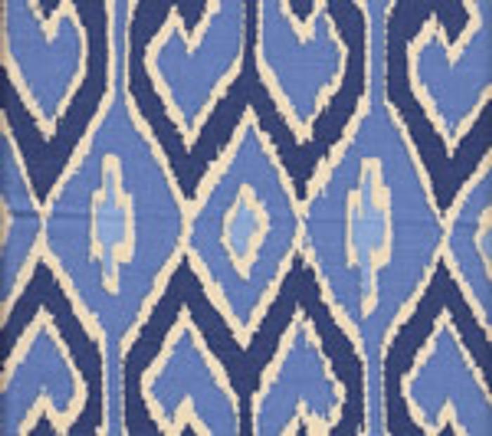 Quadrille Aquarius New Navy/French Blue on Cream
