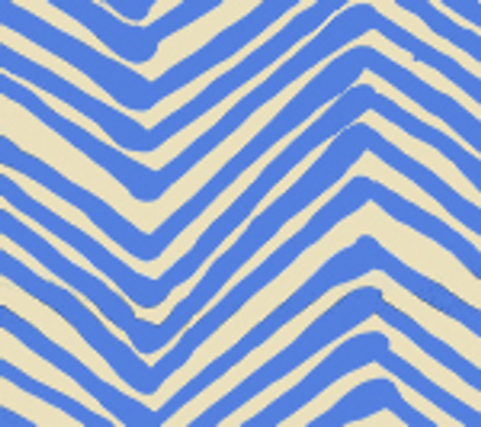 Quadrille Alan Campbell Zig Zag French Blue On Tint