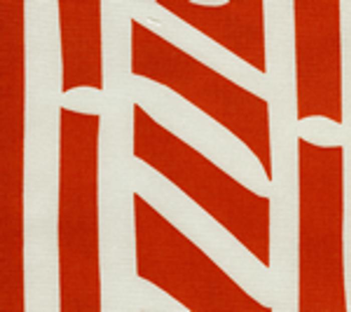 Quadrille Alan Campbell Candu Indoor/Outdoor Fabric Orange