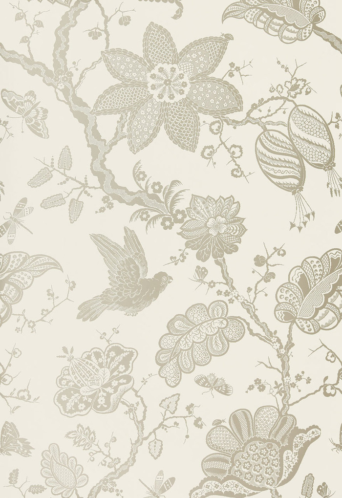 """Schumacher Bali Vine Wallpaper Platinum 5005000 - Quantity of 1 is one full panel  87.75"""" X 54 """" wide (a Total of 2.44 yards)"""