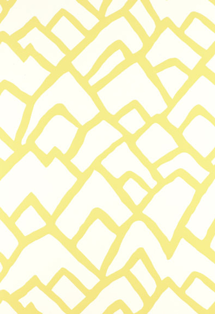 Zimba Wallpaper in Soft Chartreuse