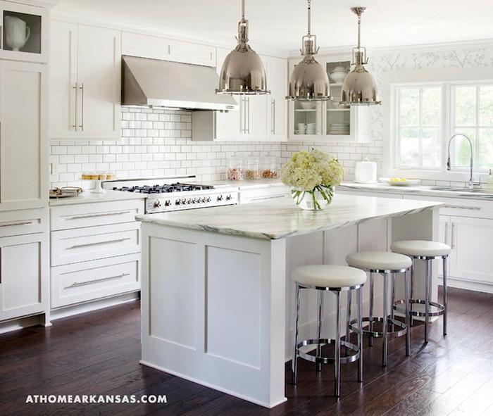 Kitchen Wallpaper Schumacher Twiggy in Silver (At Home Arkansas)