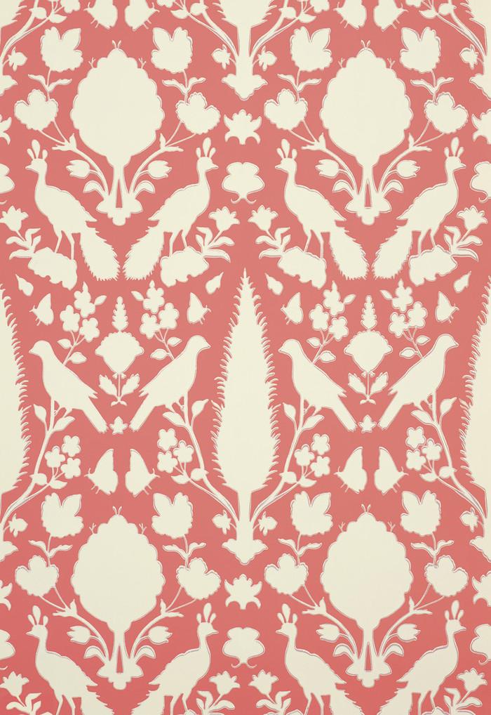 Schumacher Chenonceau Wallpaper Coral 5004125