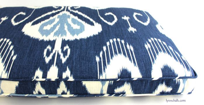 Custom Cushion by Lynn Chalk in Bansuri Iris
