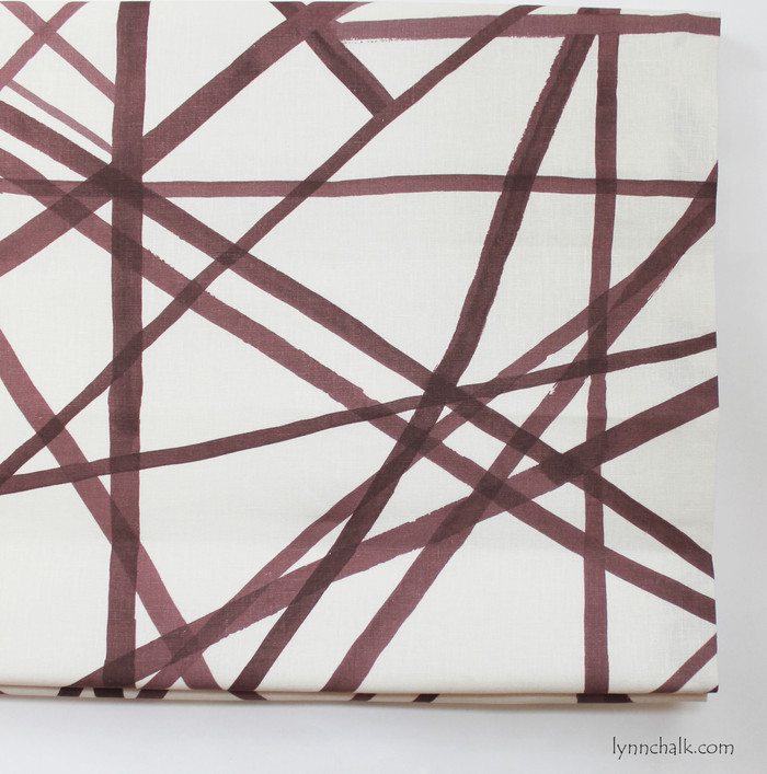Kelly Wearstler Channels Custom Roman Shades - Shown in Plum (Comes in 4 Colors)