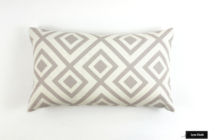 "ON SALE David Hicks La Fiorentina Pillow in Grey -14"" X 24"""