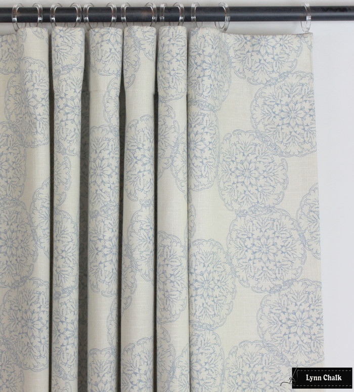 Custom Flat Panels in Danda Light Blue