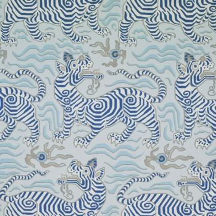 Clarence House Tibet Pale Blue Wallpaper 9985-1