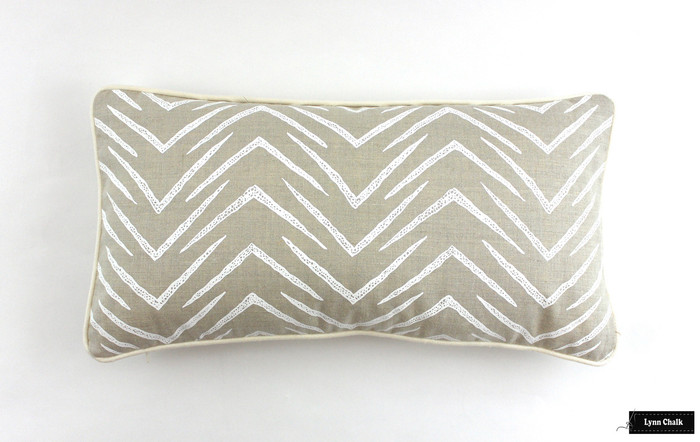 ON SALE Groundworks Herringbone Pillows in Jute/White (12 X 22) Only 1 Remaining At This Sale Price