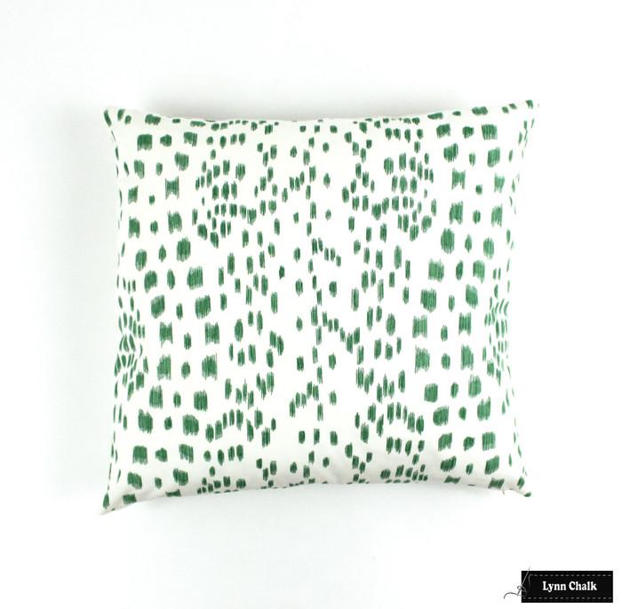Brunschwig & Fils Les Touches Pillows in Green