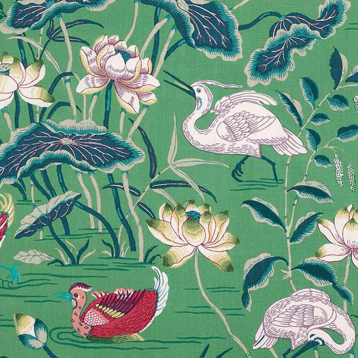Schumacher Lotus Garden Wallpaper