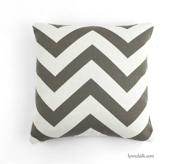 Pillow in Antibes Chevron Driftwood 18 X 18