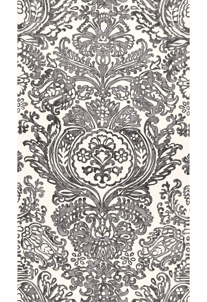 Schumacher Tremezzo Damask in Graphite