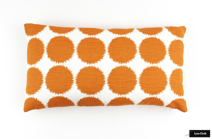 ON SALE Schumacher Fuzz 12 X 22 Pillows in Orange (Both Sides) Only 1 Pillow Remaining at this Sale Price