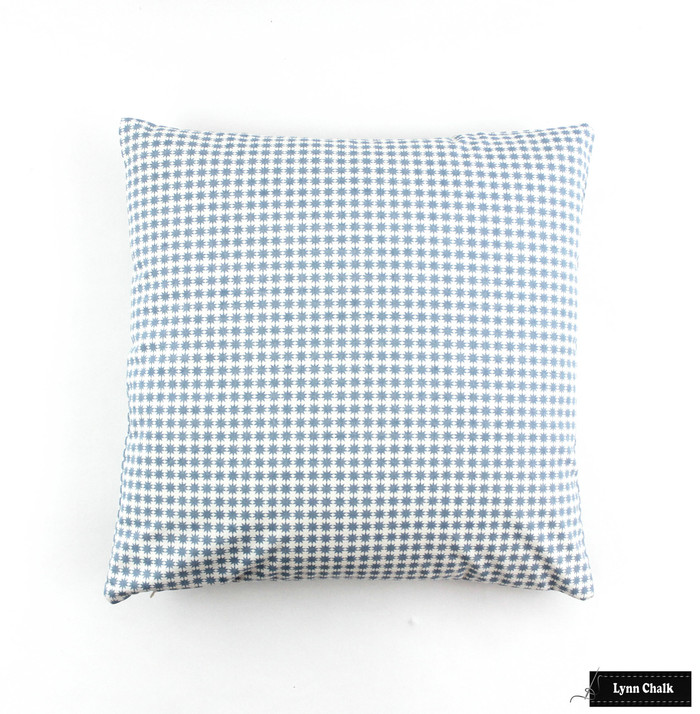 Schumacher Stella in Chambray Knife Edge Pillow