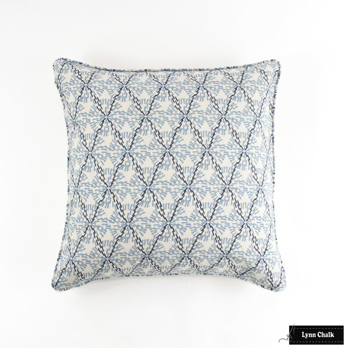 Lake August Tula Denim Pillow with Self Welting (24 X 24)
