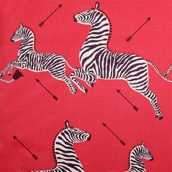 Scalamandre Zebras 16496-001 Masai Red