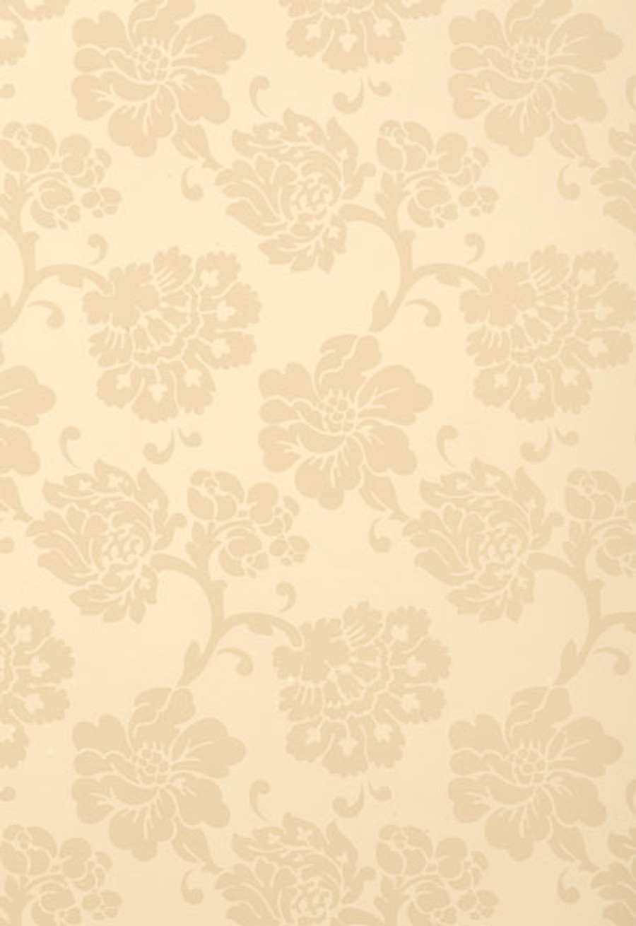 Schumacher Wallcovering Albero Floreale in Bisque