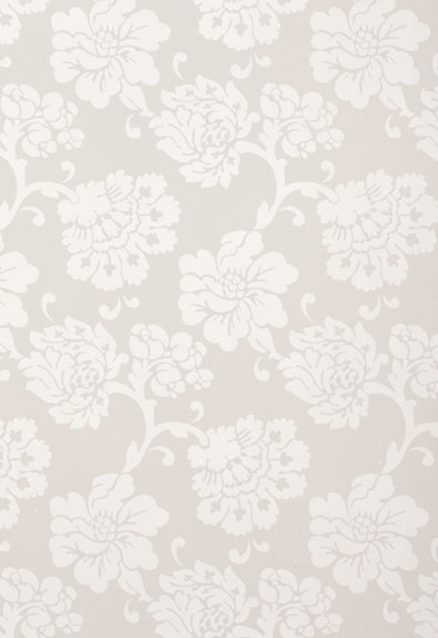 Schumacher Wallcovering Albero Floreale in Grey