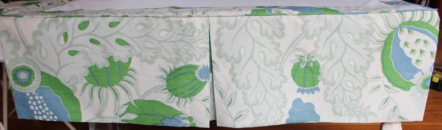 Christopher Farr Carnival in Green Custom Bedskirt