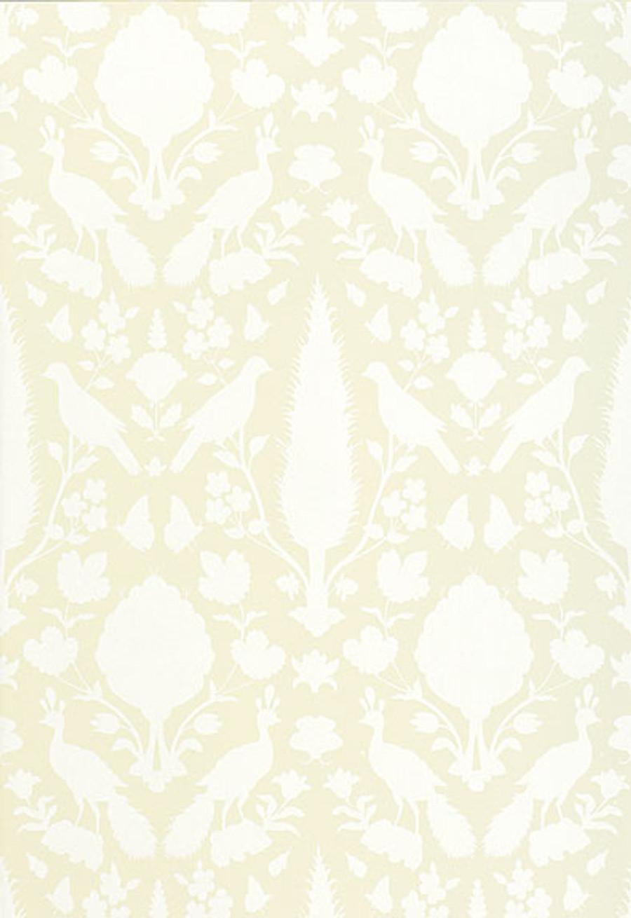 Schumacher Chenonceau Wallpaper Bisque 5004124