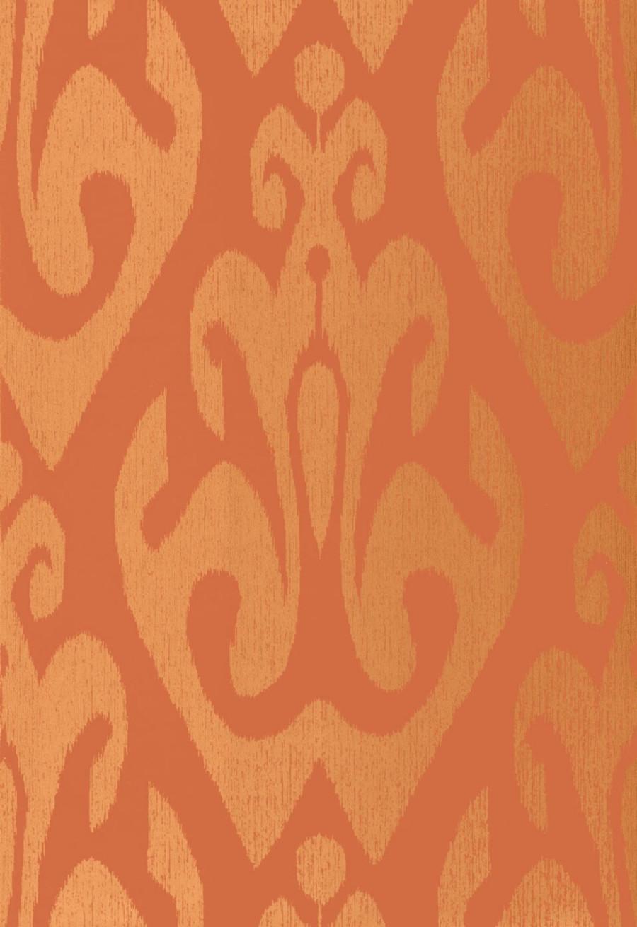 Schumacher Tokat Wallpaper Cinnabar