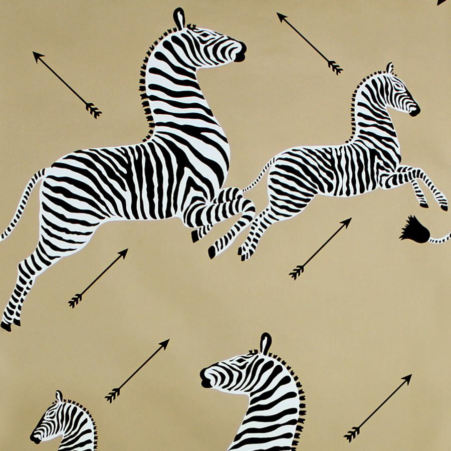 Scalamandre Zebras Wallpaper Gold - 2 Roll Minimum Order