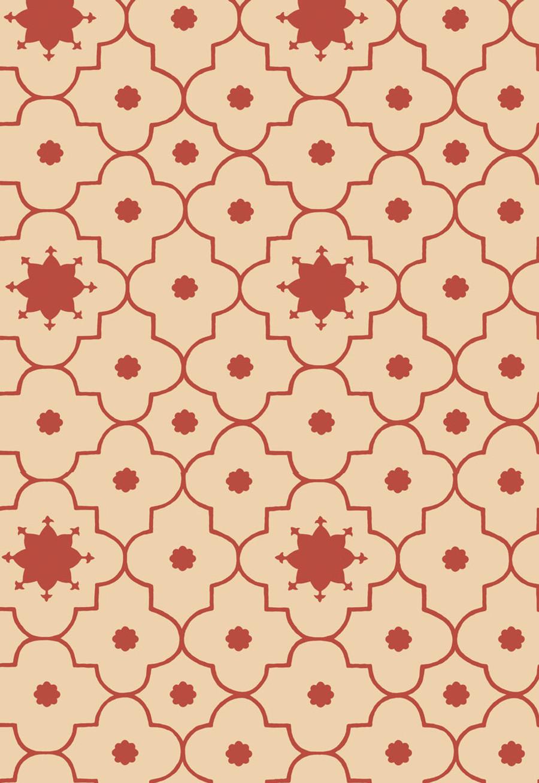 Martyn Lawrence Bullard Wallpaper Taj Trellis in Pomegranate