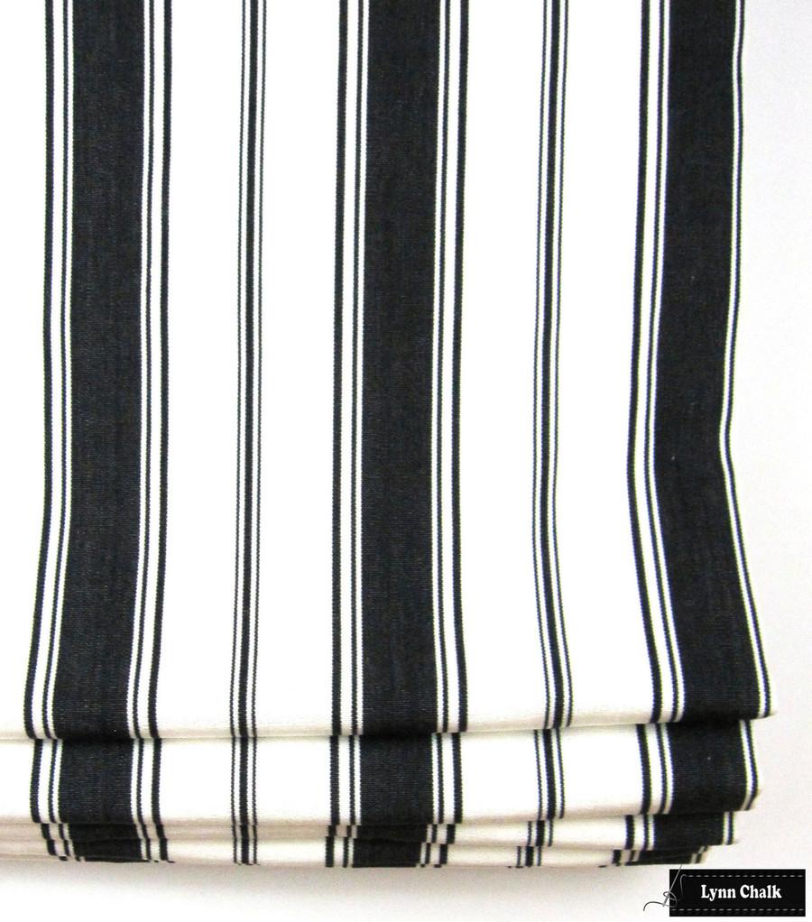 Branca Stripe in Noir Roman Shade