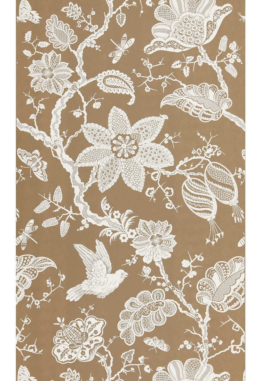 """Schumacher Bali Vine Wallpaper Mocha  5005002  - Quantity of 1 is one full panel  87.75"""" X 54 """" wide (a Total of 2.44 yards)"""